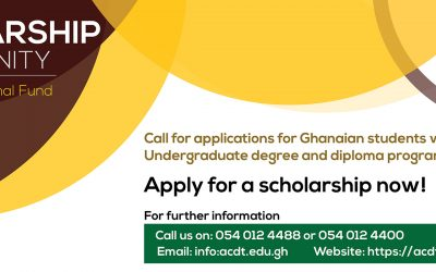 Scholarship opportunity for Ghanaian students who want to study in ACDT